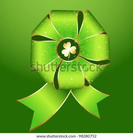 Green Ribbon Bow Set
