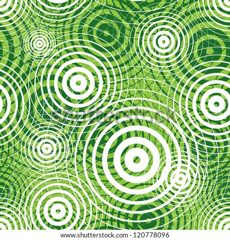 Green ripple seamless pattern, vector background.