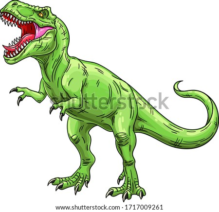 green roaring tyrannosaurus