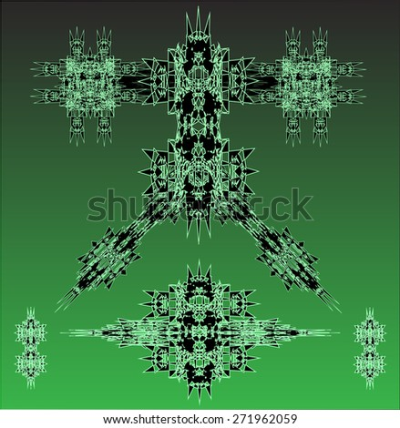 green robots vector set