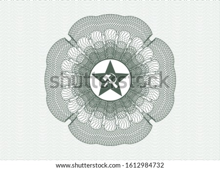 green rosette  money style