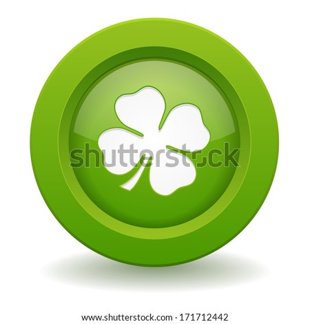green round luck button