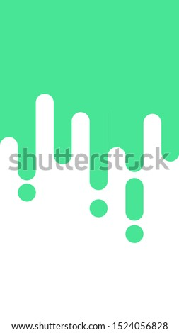 Green rounded line background, rounded line design similar to melting ice cream form the top