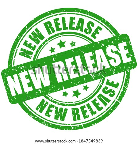 Green rubber stamp new release Stock foto ©