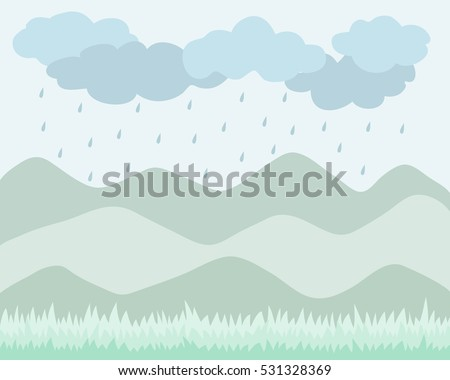 green scenery background with