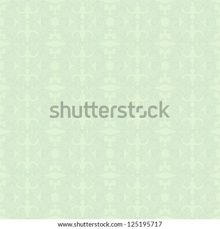 Green seamless floral texture