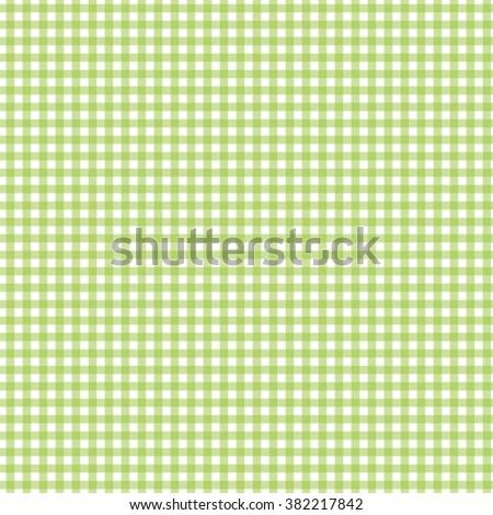 green seamless gingham pattern vector illustration