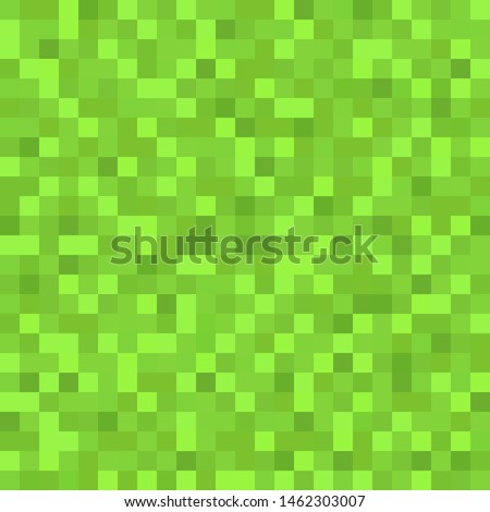 Green seamless pixel background. Pixel background for packaging. Wallpaper. Gaming concept. Vector illustration. EPS 10