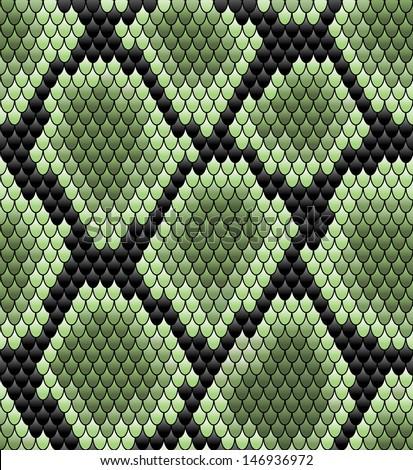 green seamless snake skin