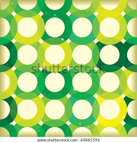 green seamless tile pattern background with circular design