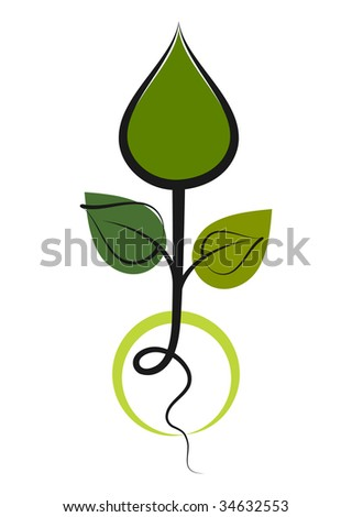 Green Seedling - Concept of a green environment. - stock vector
