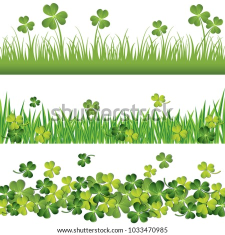 green shamrock and grass