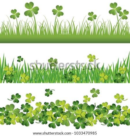 green shamrock and grass