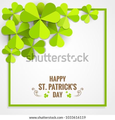 green shamrock frame paper for