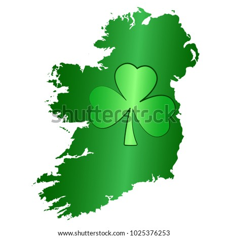 green shamrock symbol and