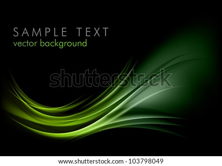 stock-vector-green-shape-shining-on-the-black