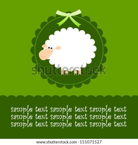 green sheep card