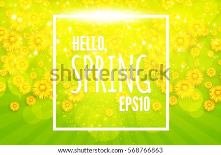 green shining spring background
