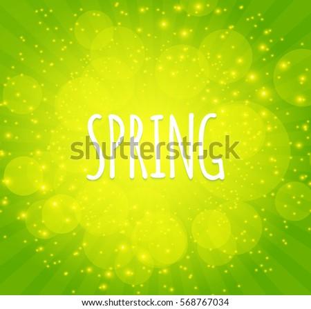 green shining spring background