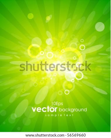 Green shiny background