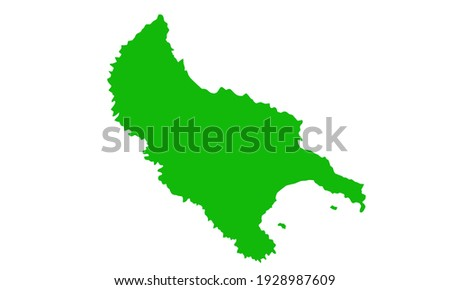 green silhouette of zakynthos