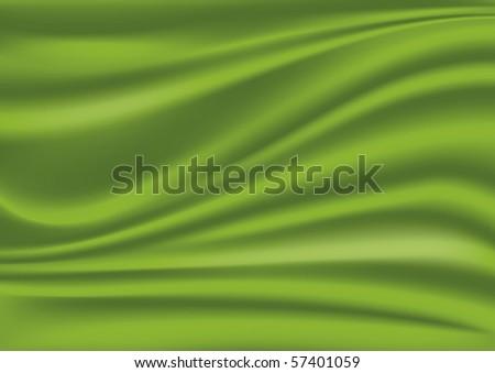 Green silk fabric