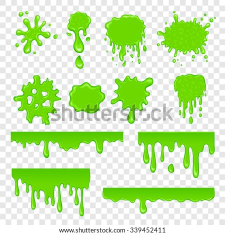 green slime set isolated on a