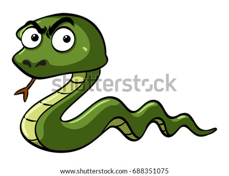stock-vector-green-snake-with-serious-face-illustration