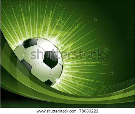 Green soccer background illustration