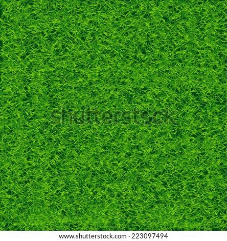 Green Soccer Grass Field Vector