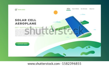 green solar aeroplane airplane