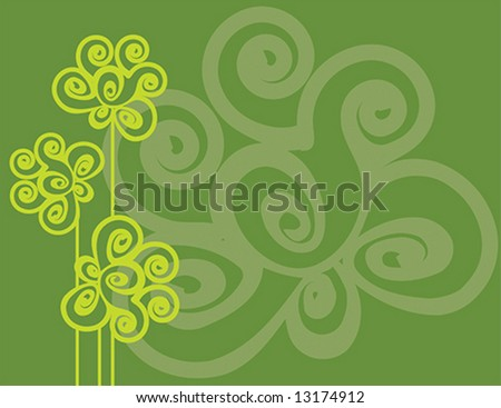 green spiral flower vector