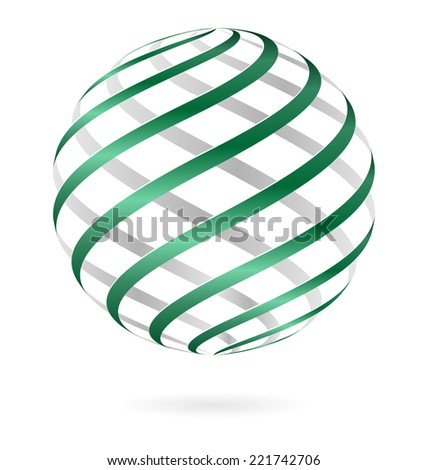 green spiral logo ball template