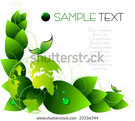 green spring abstract