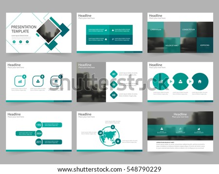 green brochure template presentation design download free vector