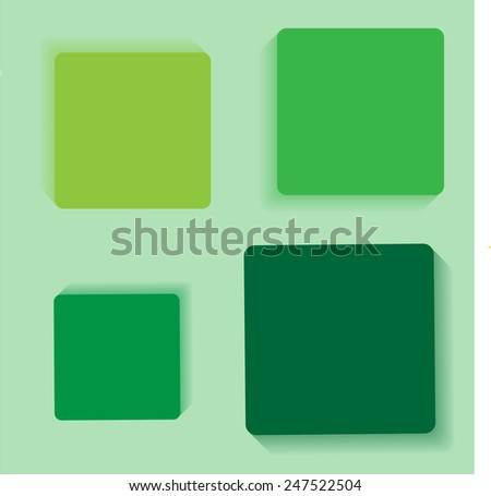 Green Squares background hatbox illustration
