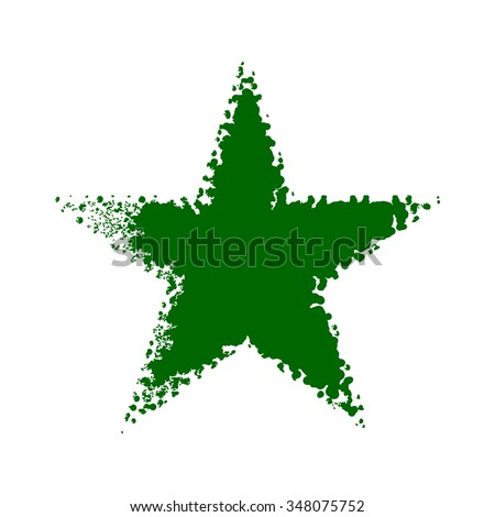 green star background vector