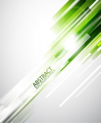 Green straight lines abstract background