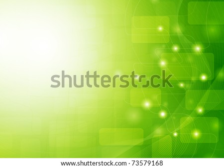 Green stylish fantasy background