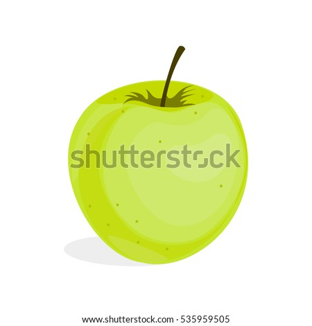 green stylish painted apple