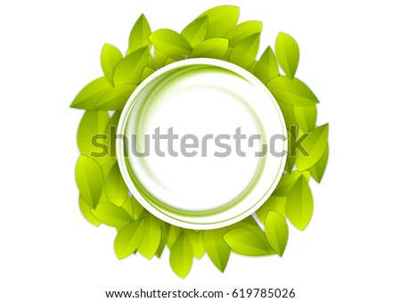 green summer leaves abstract