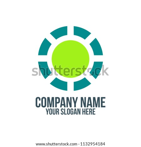 green sun recycle and abstract company logo concept