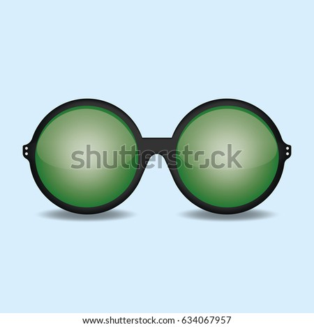 green sunglasses vector