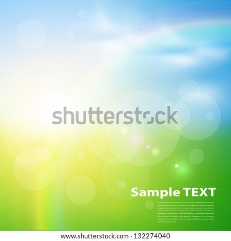 stock-vector-green-sunny-natural-background-vector-illustration