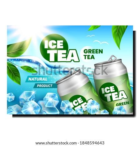 green tea drink creative