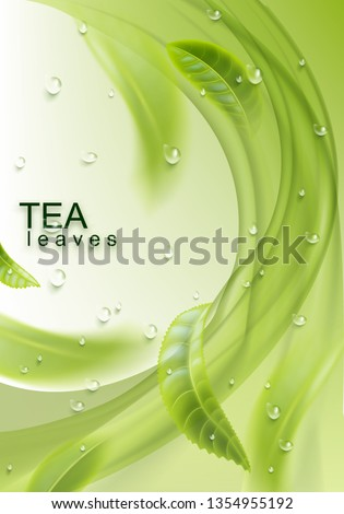 green tea realistic background