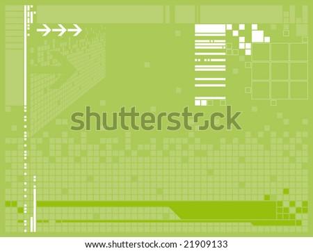 technical wallpaper. stock vector : green technical