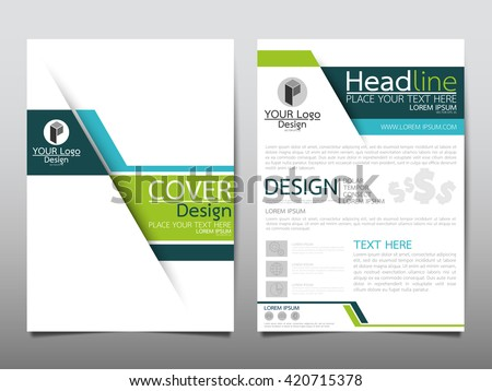 green brochure template presentation design download free vector