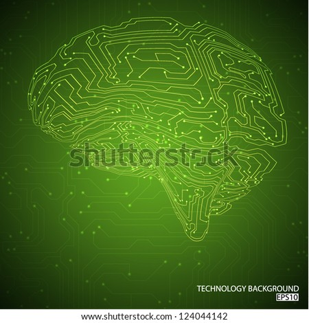 Green technology background. EPS10 vector