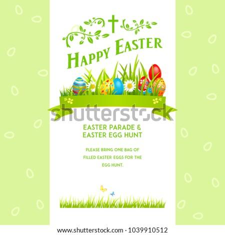 Green Template Easter illustration